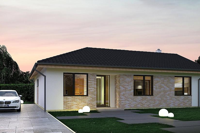 Projekt bungalovu Palmer 604 obr.1013