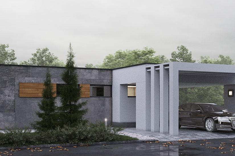 Projekt bungalovu Palmer 611 obr.1021