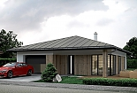 Projekt bungalovu Palmer 613 obr.1025