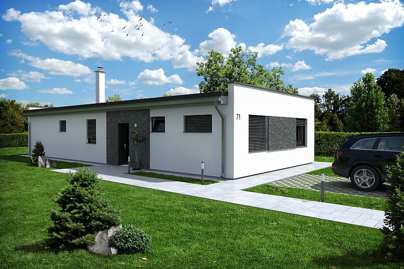 Projekt bungalovu Palmer 602 obr.1028