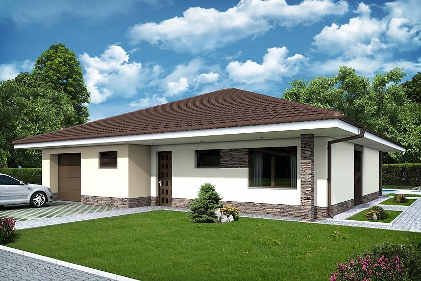 Projekt bungalovu Palmer 605 obr.1033