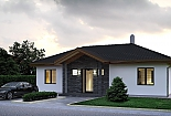 Projekt bungalovu Palmer 603 obr.1035