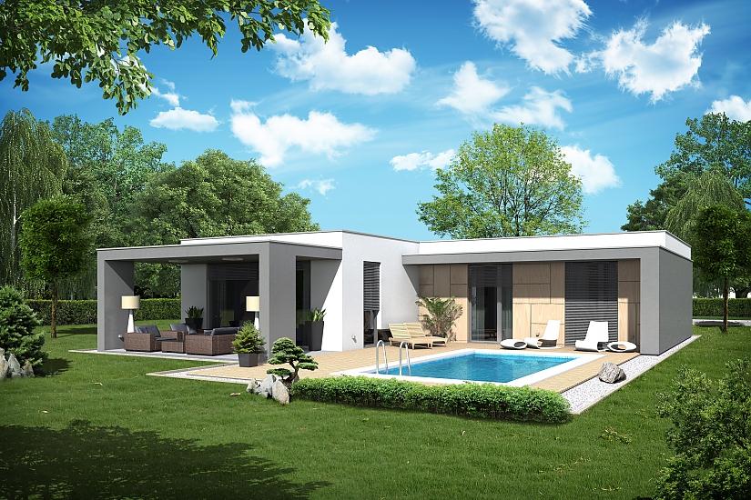 Projekt bungalovu Palmer 601 obr.1036