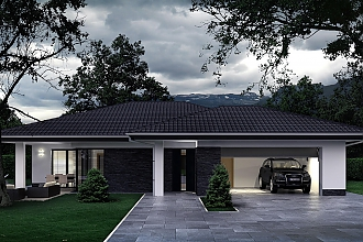 Projekt bungalovu - Palmer 609