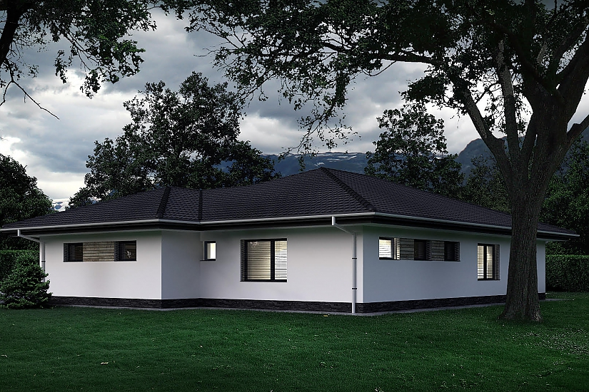 Projekt bungalovu Palmer 609 obr.1040