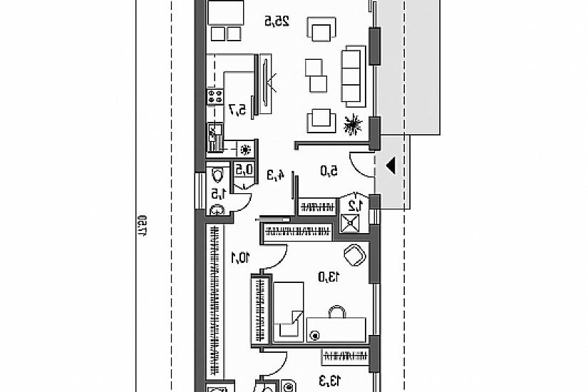 Projekt bungalovu Laguna 14 obr.462