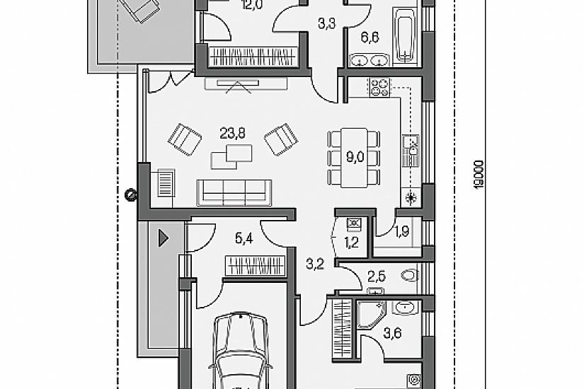 Projekt bungalovu Laguna 17 obr.596
