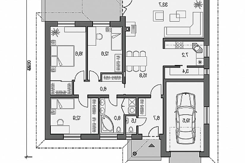 Projekt bungalovu Laguna 28 obr.465