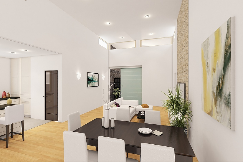 Projekt bungalovu Linear 324 obr.1068