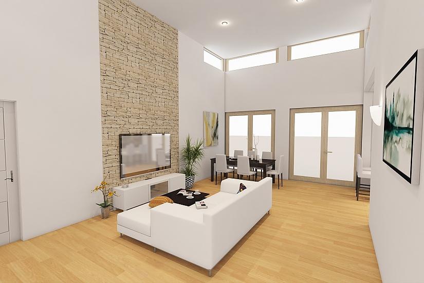 Projekt bungalovu Linear 324 obr.1069