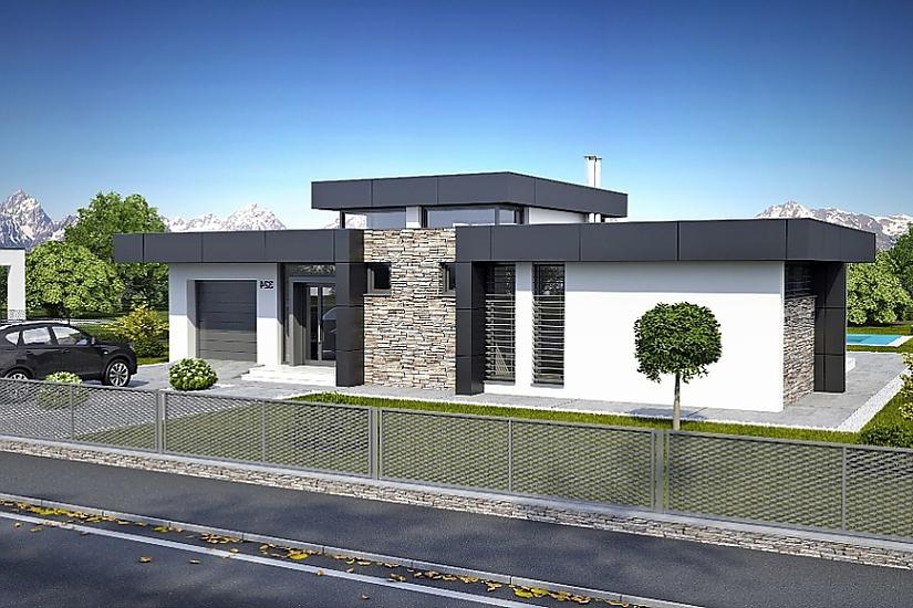Projekt bungalovu Linear 324 obr.322
