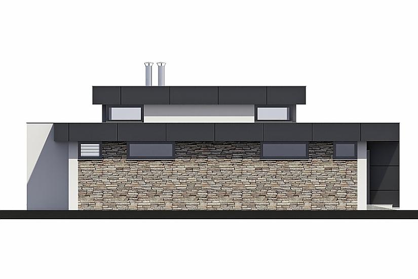 Projekt bungalovu Linear 324 obr.327