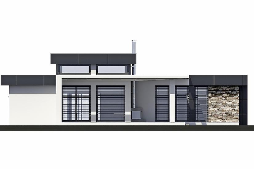 Projekt bungalovu Linear 324 obr.329