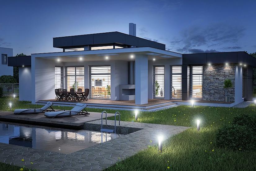 Projekt bungalovu Linear 324 obr.938