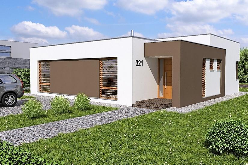 Projekt bungalovu Linear 321 obr.357
