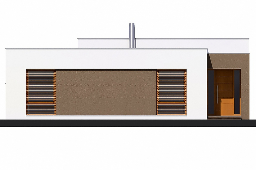 Projekt bungalovu Linear 321 obr.358