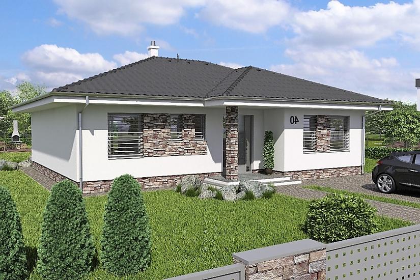 Projekt bungalovu Laguna 40 obr.366
