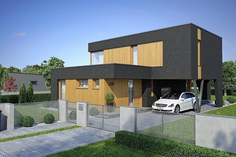 Projekt rodinného domu Linear 320 obr.375