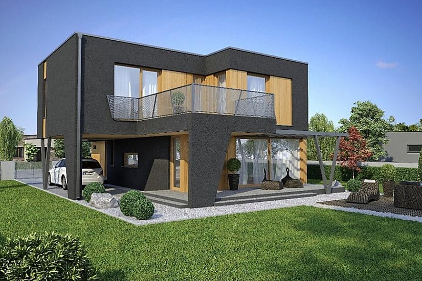 Projekt rodinného domu Linear 320 obr.380