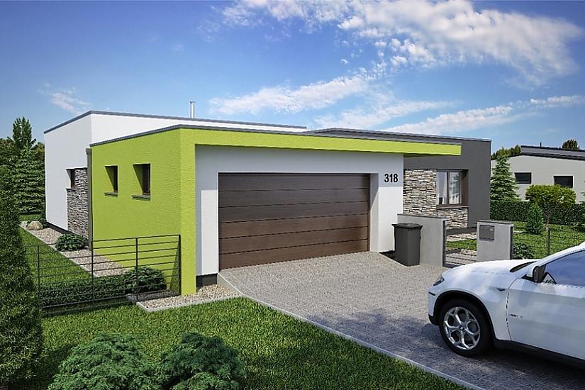 Projekt bungalovu Linear 318 obr.392