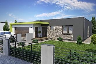 Projekt bungalovu - Linear 318