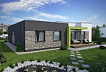 Projekt bungalovu Linear 318 obr.398