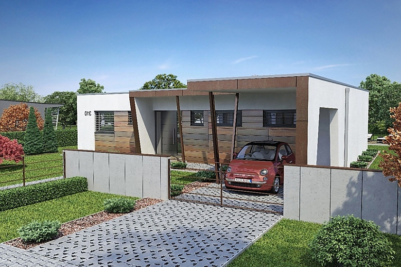 Projekt bungalovu Linear 310 obr.410