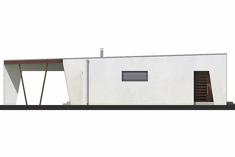 Projekt bungalovu Linear 310 obr.413