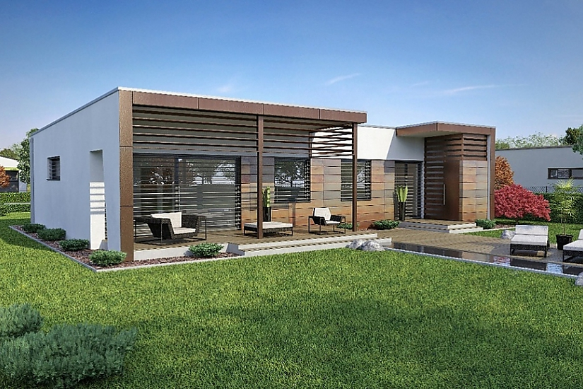 Projekt bungalovu Linear 310 obr.416
