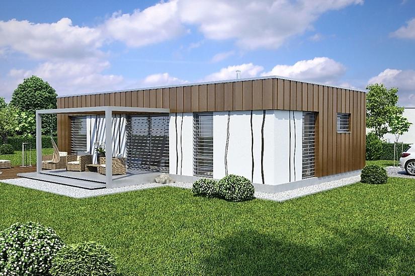 Projekt bungalovu Linear 307 obr.429