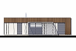 Projekt bungalovu Linear 307 obr.431