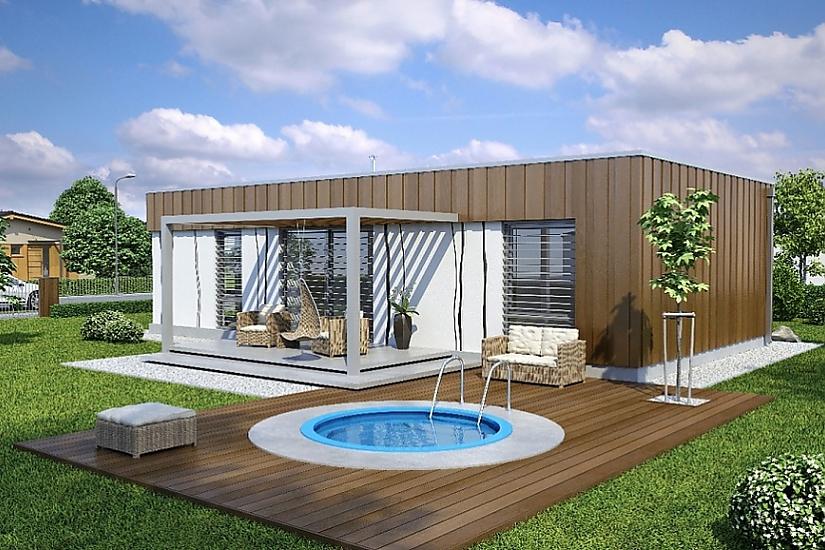 Projekt bungalovu Linear 307 obr.434