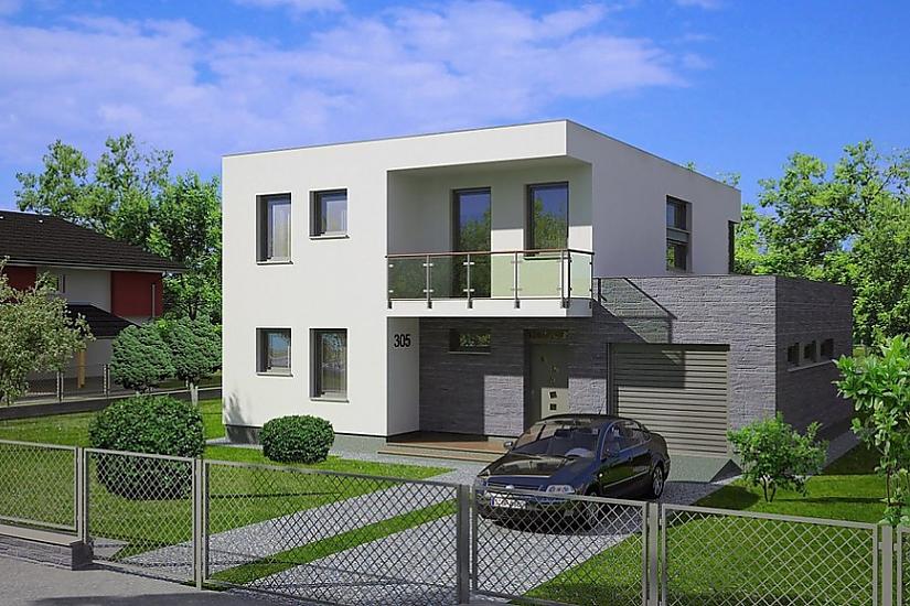 Projekt rodinného domu Linear 305 obr.437