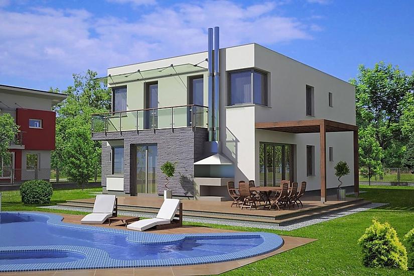 Projekt rodinného domu Linear 305 obr.443