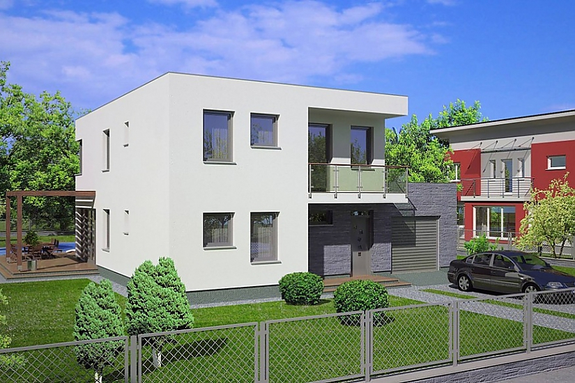 Projekt rodinného domu Linear 305 obr.444