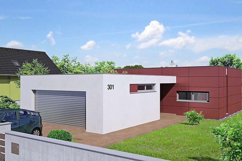 Projekt bungalovu Linear 301 obr.446
