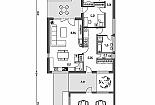 Projekt bungalovu Linear 301 obr.758