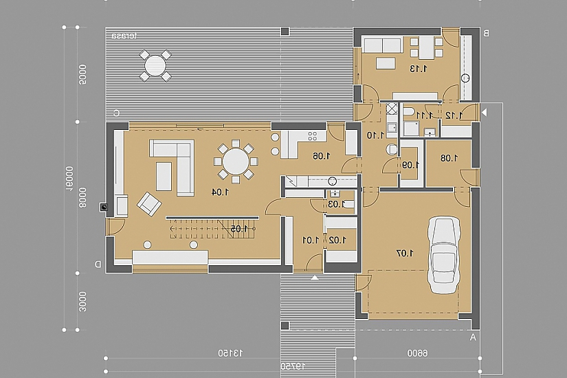 Projekt rodinného domu Noble obr.882