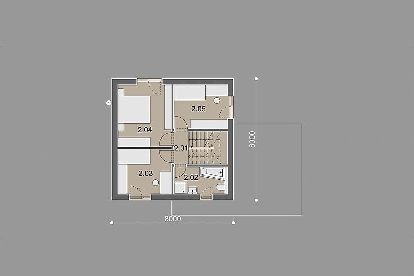 Projekt rodinného domu Cube obr.887