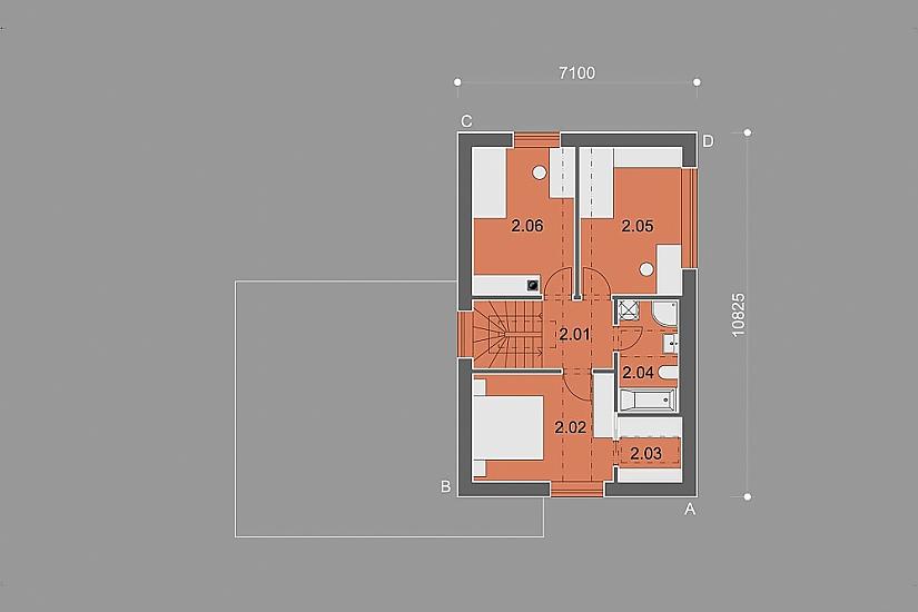 Projekt rodinného domu Homely obr.876