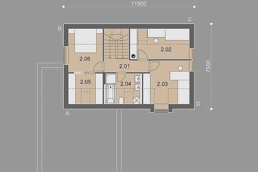 Projekt rodinného domu Decent obr.879