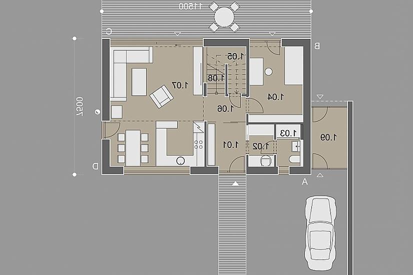 Projekt rodinného domu Open obr.898