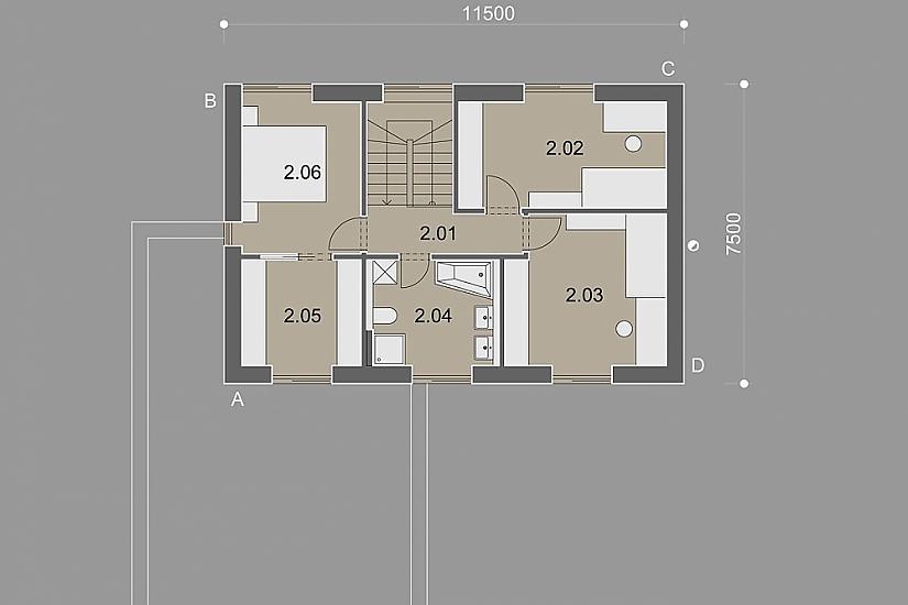 Projekt rodinného domu Open obr.899
