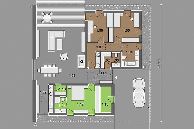 Projekt bungalovu Dessau obr.841