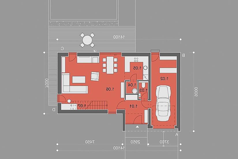 Projekt rodinného domu Pure obr.864