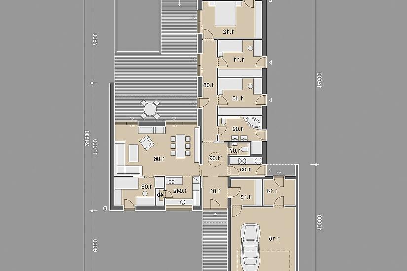 Projekt bungalovu Comfort obr.863