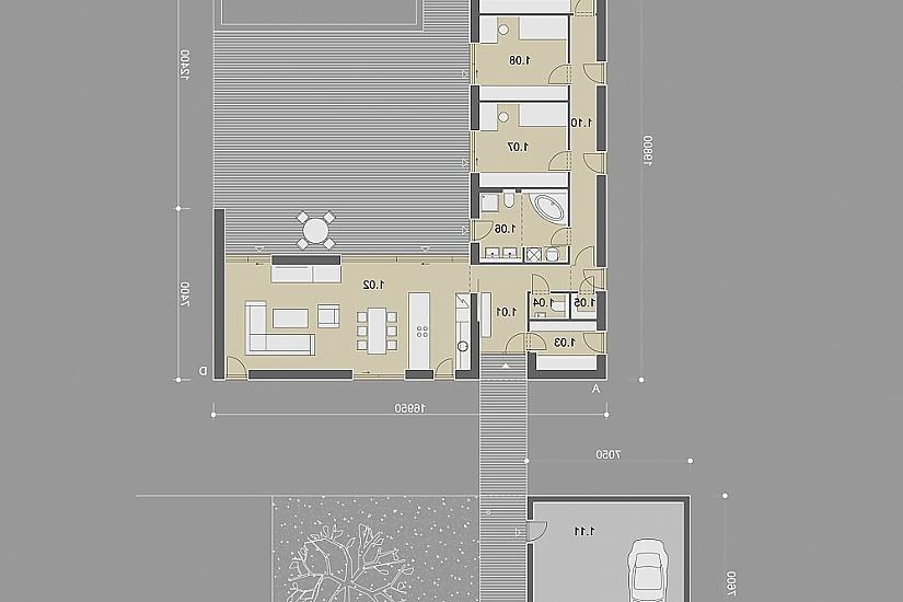 Projekt bungalovu Relax obr.842