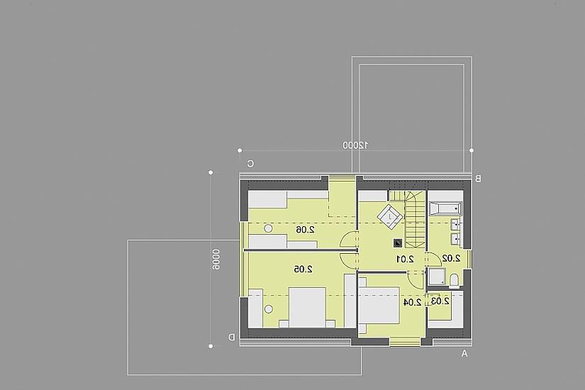 Projekt rodinného domu Popular obr.862