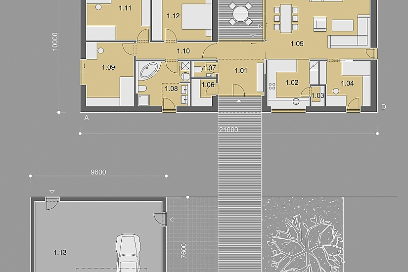 Projekt bungalovu Nova obr.843