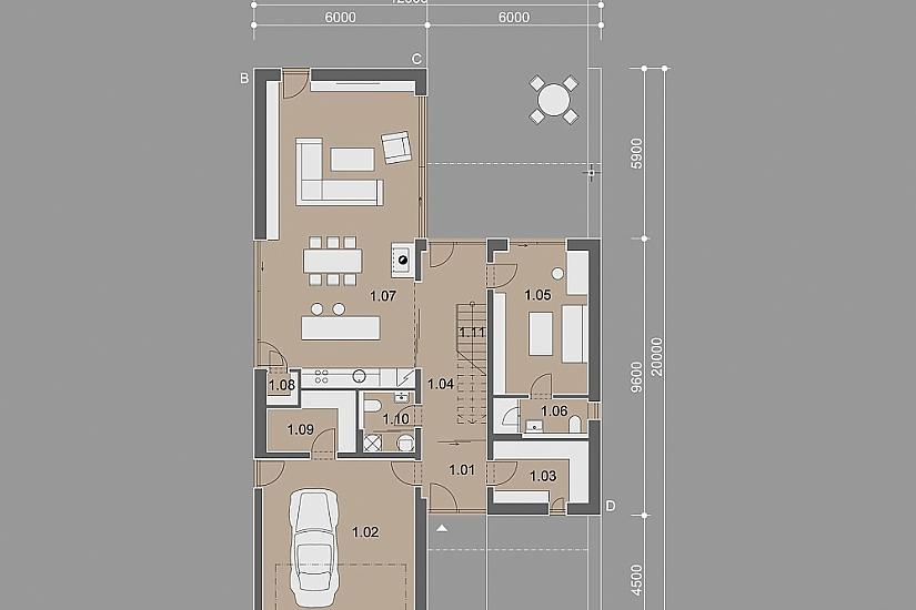 Projekt rodinného domu Heaven obr.854